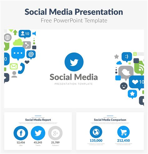 Free Social Media Template 50 Best Free Cool Powerpoint Templates Of 2018 Updated