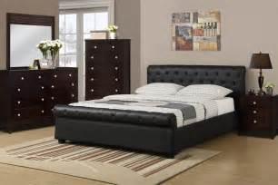 Black Leather Bed Frames Black Faux Leather Bed Frame