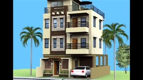 three story building small three story home plans