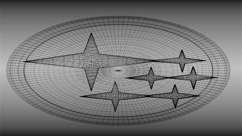 subaru logo wallpaper subaru logo 3d model obj blend cgtrader com