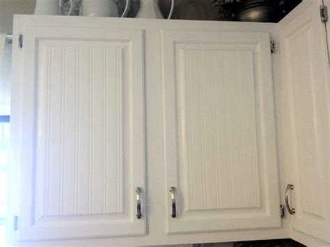 White Beadboard Kitchen Cabinets by Beadboard Kitchen Cabinet Installation