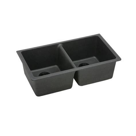 Elkay Granite Composite Sinks by Elkay Elgu3322bk0 Black Gourmet 33 Quot Basin Granite
