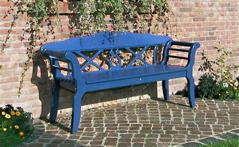 blue garden bench wooden garden benches and garden furniture painted white