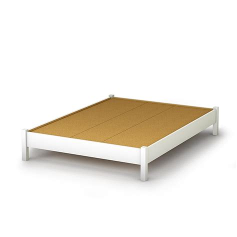 bed platform south shore step one full platform bed 54 quot in pure white