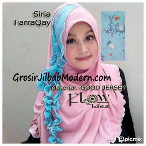Jilbab Syari Biru jilbab syria farraqay pink biru grosir jilbab modern