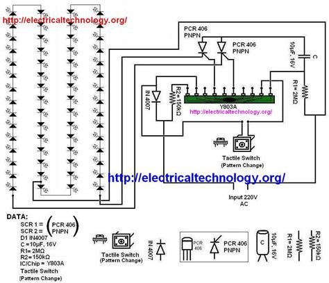 led string strip circuit diagram using pcr 406 electrical