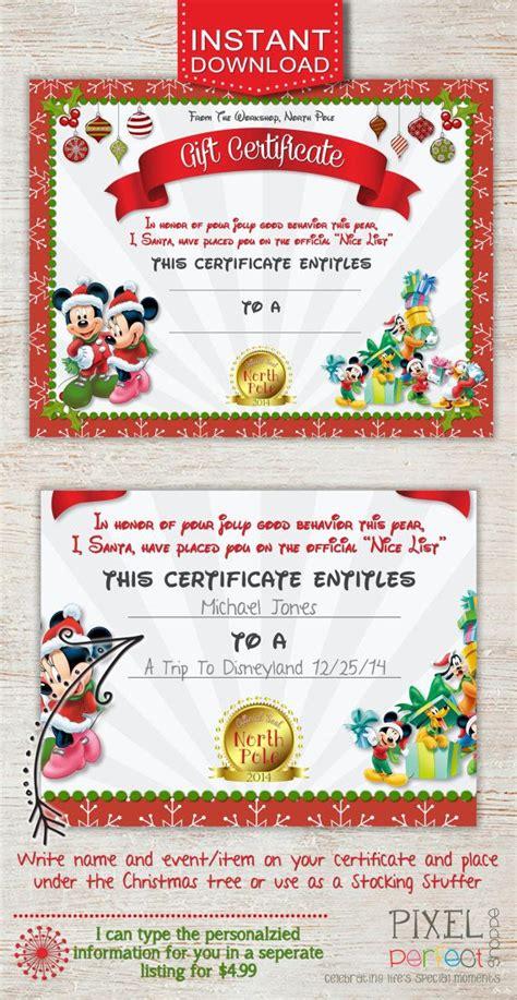 disney world thank you card templates gift certificate disney trip gift certificate