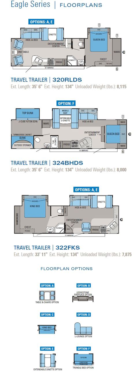 jayco rv floor plans jayco eagle travel trailer floorplans 2011 large picture