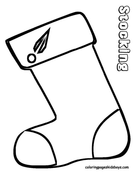 christmas stocking pattern coloring page new calendar