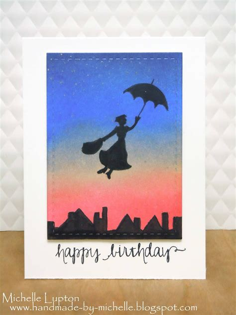poppins birthday card template for handmade by poppins birthday card