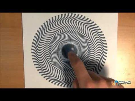 ilusiones opticas hechas a mano ilusi 243 n 243 ptica sorprendente de movimientos youtube