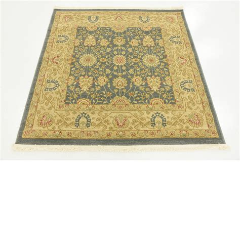 type rugs traditional floral style rugs blue 4 x 4 heritage rug ebay