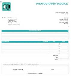 Photography Receipt Template Photography Invoice Template Printable Word Excel