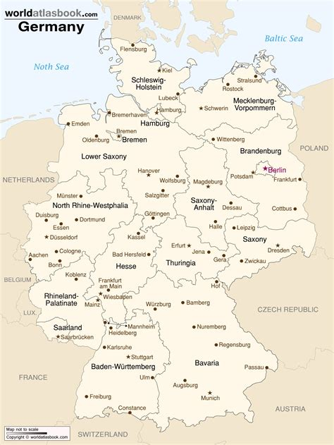 Printable Map Of Germany