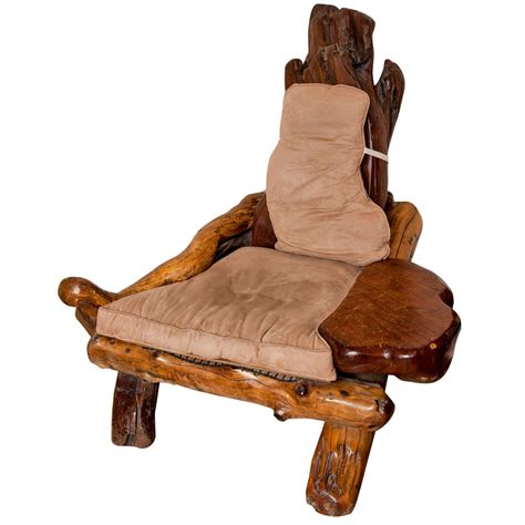Chair Proportions by A Rustic Redwood Chair Of Large Proportions At 1stdibs