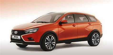 Lada News Lada Vesta Cross Concept Debuts At Moscow Road Show