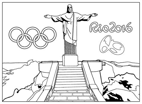 Rio Coloring Pages Games | free coloring page coloring adult rio 2016 olympic games