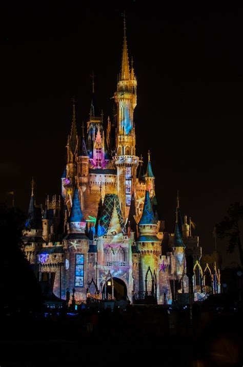 disney light cinderella s castle at disneyworld light for a