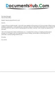 Appointment Letter To Client Sample Sample Cover Letter For Meeting Request