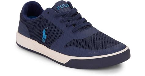 Rasio Mesh Sneakers Navy polo ralph hellidon sports mesh sneakers in blue for lyst