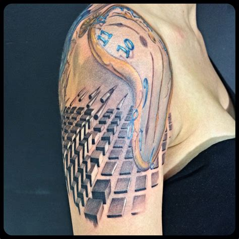 melting clock tattoo savaldordali melting clock on arm past by