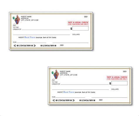 check template cheque templates free word psd pdf format
