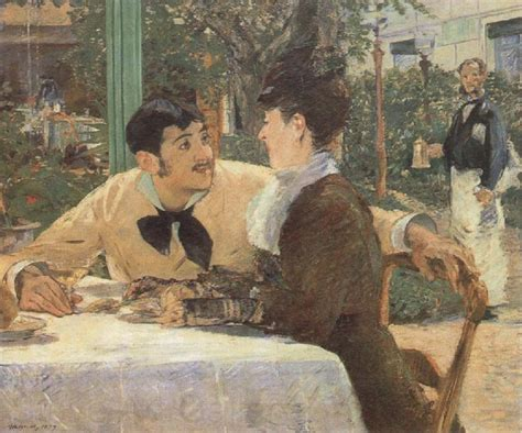 manet usa in the garden restaurant of pere lathuille edouard manet open picture usa oil painting reproductions
