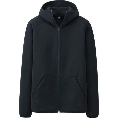 Uniqlo Oversized Hooded Sweat Jacket uniqlo stretch sweat zip hoodie in black for lyst