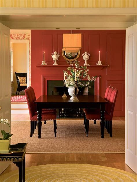 Red Dining Rooms by Traditional Dining Room Photos Hgtv