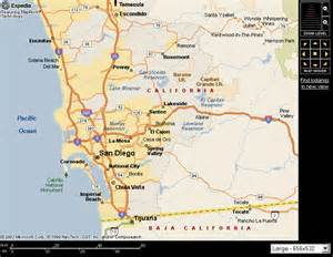 San Diego Area Map by Trips