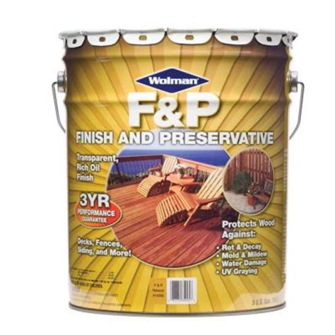 wolman 5 gal f p exterior wood stain finish and