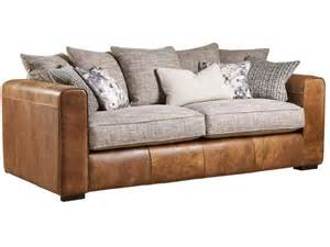 Leather And Cloth Sectional Sofas Leather And Fabric Mix Sofas Leather Fabric Mix