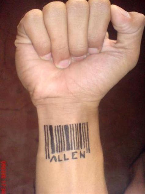 barcode tattoo on wrist barcode tattoos and designs page 5