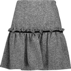 Ruffled Tweed A Line Miniskirt see by chlo 233 wool blend tweed mini skirt 315 liked on