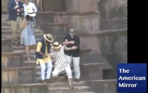 is she okay hillary clinton slips down the stairs while hillary clinton slips down stairs in india two times