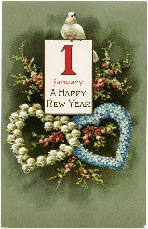 winsch birds new year postcard design shop january 1 vintage new year postcard design shop