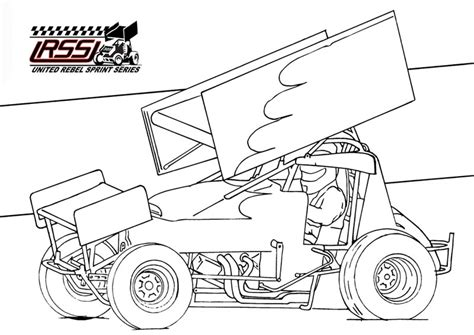 Sprint Car Coloring Pages free coloring pages of sprintcar