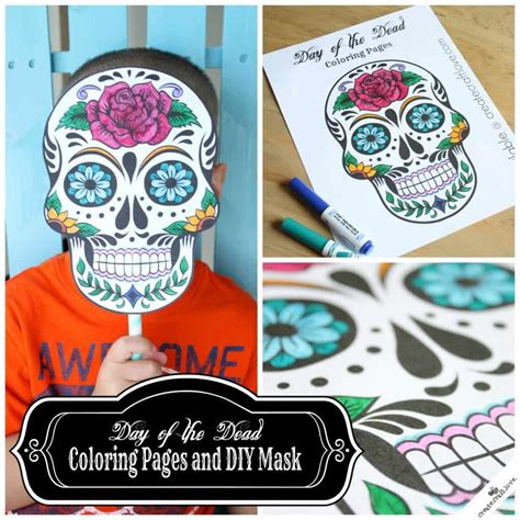 printable masks for day of the dead day of the dead mask printable