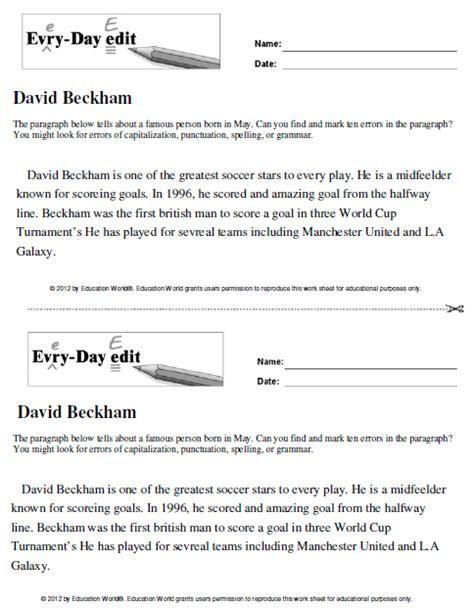 every day edit david beckham education world