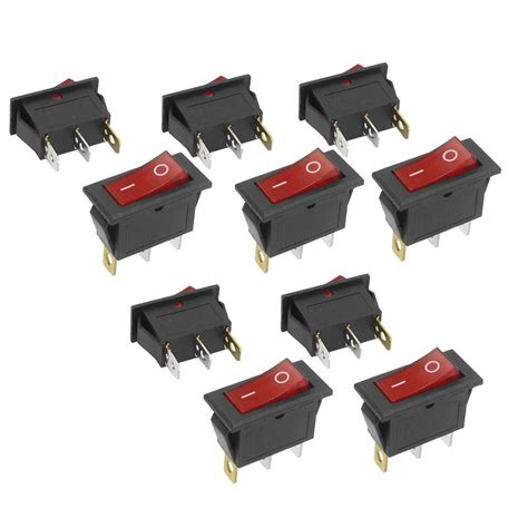 Promo Switch Lu On 3 Pin Rocker Switch Lu 3 Pin Kecil promotion 10pcs 3 pin spst neon light on rocker switch ac 250v 10a 125v 15a in switches