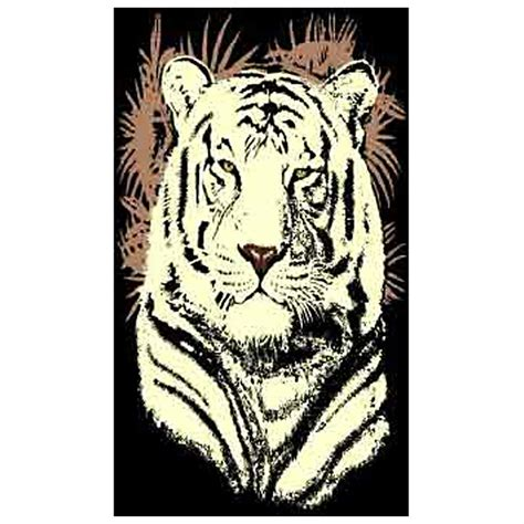 white tiger rug quot white tiger quot area rug from donnieann 174 226513 rugs at sportsman s guide