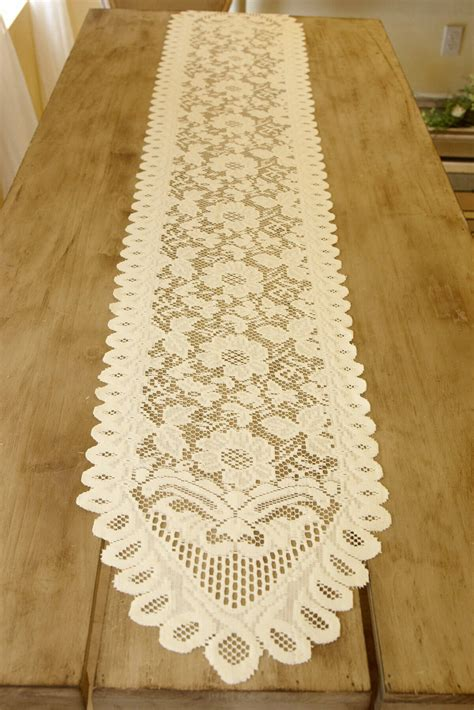 Ivory Lace Table Runner by Table Runner Lace Ivory 13 X 76in