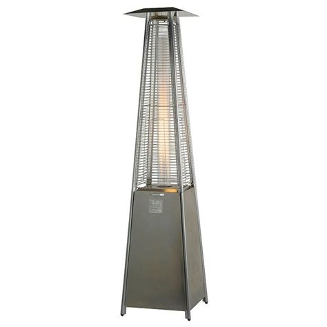 Stainless Steel Gas Patio Heater Tahiti 13kw Tower Gas Patio Heater Stainless Steel Buy Now From Gasproducts Co Uk