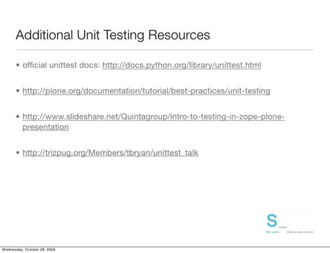 tutorial python unittest plone testing tools and techniques