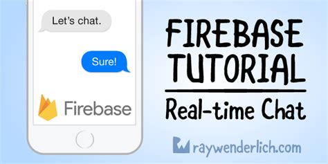 firebase tutorial ray wenderlich firebase tutorial real time chat