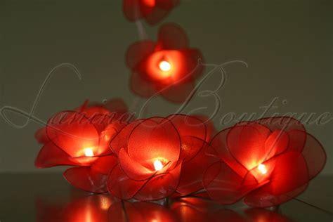 20 Or 35 Led Nylon Rose Flower Plug In String Fairy Lights Floral String Lights