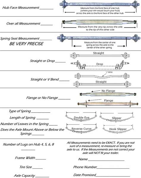 boat trailer axle length how to measure an axle for a boat or utility trailer