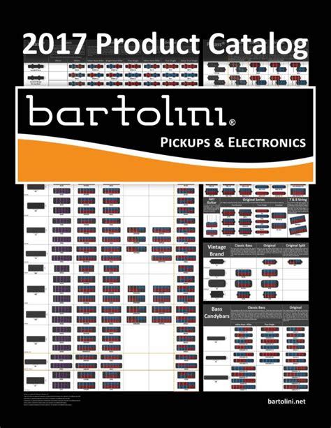 catalog  price list bartolini pickups electronics