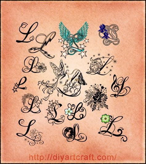 tattoo designs words letters poster maiuscola l per hair skin