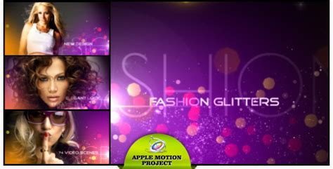apple motion templates for sale fashion glitters videohive 5019032